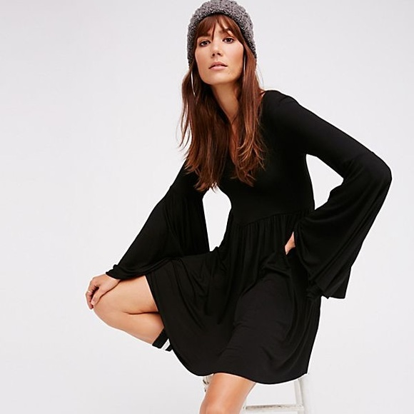 Free people bell sleeve dress